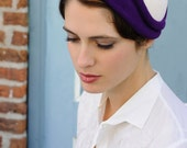 A Milliner's Touch - purple and white 1930's, netting is optional