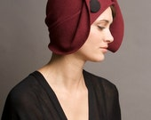 burgundy cloche ON HOLD FOR T