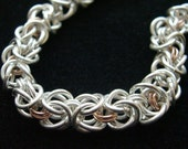 Silver and Rose Birdcage Chain Bracelet