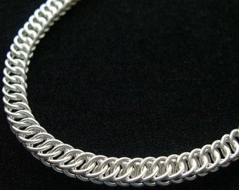Sleek Sterling Silver Chainmail Choker