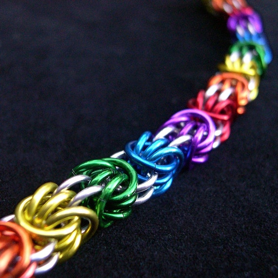 Rainbow Triple Birdcage Chain Bracelet