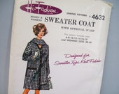 Vintage 60's Pattern Sweater Coat Hi Fashion Sewing