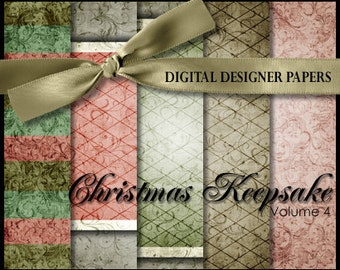 Digital Papers - CHRISTMAS KEEPSAKE (Volume 4) - 12x12 Expertly Designed Photography Backdrops for Photographers and Scrapbookers.