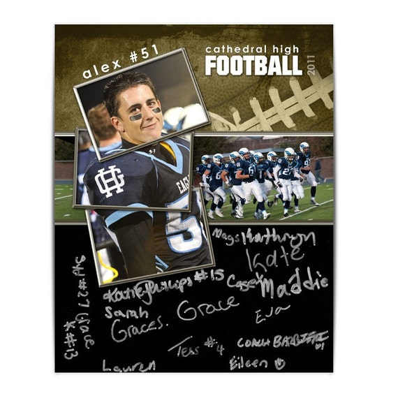 autograph memory mate sports collage football 1 by ashedesign. Black Bedroom Furniture Sets. Home Design Ideas