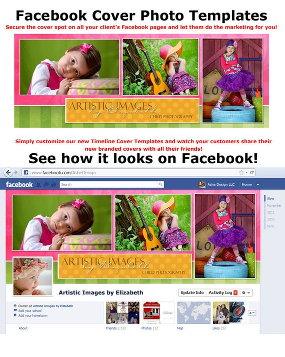 FACEBOOK Timeline Cover -- Spring Fling -- Digital PhotoshopTemplates for Personal Pages