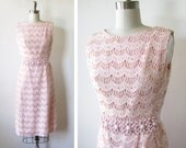 60s pink dress / vintage mod scooter dress