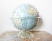 RESERVED National Geographic world globe / lucite base / 60s