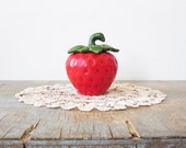 ceramic strawberry sugar bowl / jam pot