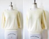french vanilla shirt / vintage 70s soft spun knit pullover
