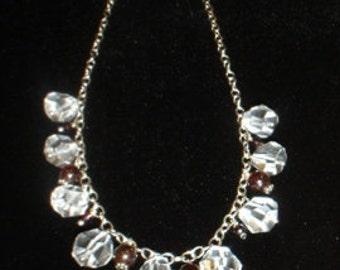 Garnet and Glass Beaded Chain