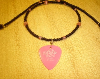 This Chick's Rockin' Guitar Pick Necklace Teen Jewelry