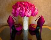 Rhinestone Bouquet Cuff, Bling Bouquet Holder, Bouquet Wrap, Bouquet Bling ...The Original BridalBling