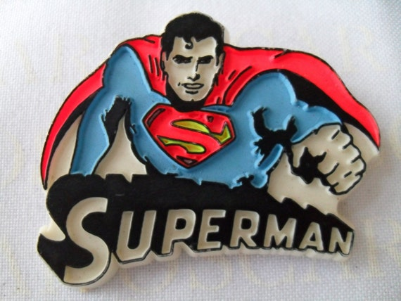 Vintage Superman Super Hero Pin