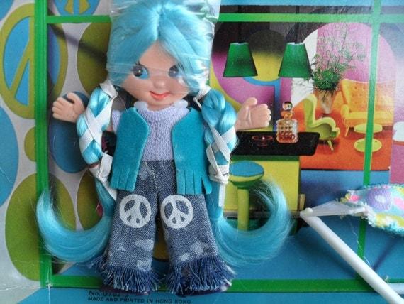 60 S Toys : Vintage flatsy doll kookie mod s ideal toy