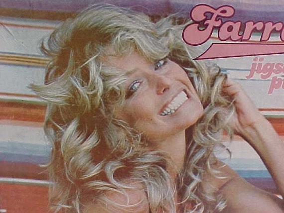 Original farrah fawcett 70s poster puzzle for Farrah fawcett poster