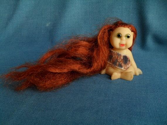 Long Red Haired Troll Cavegirl Doll