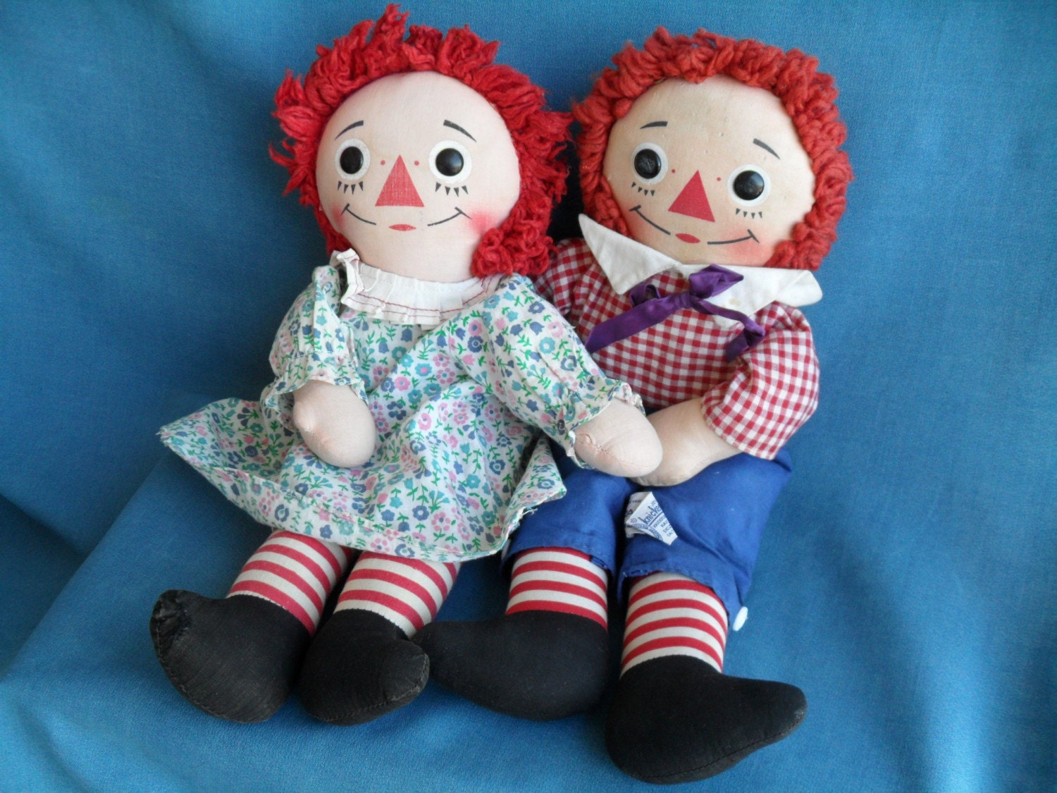 Vintage Raggedy Ann And Andy Dolls 32