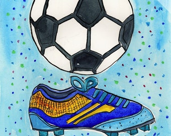 Soccer Ball and Shoe - Sports Series Print