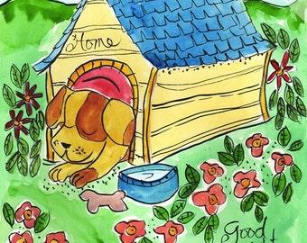 Sleeping Puppy Dog  - Pets and Pals Print Series