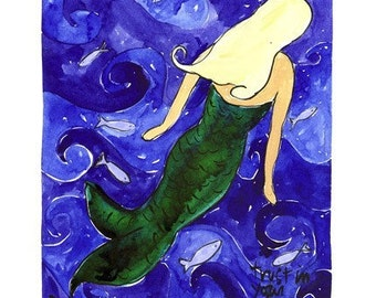 Mermaid - Nautical Beach Print Series