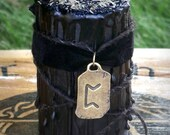 WYRD WORKER Perthro Soy Rune Candle for Turning and Influencing Karmic Primal Layers of Reality, Transformation Magic, Joy, Divination