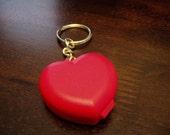 Small Tupperware Heart Key Chain - CUTE, NEW