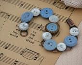 Vintage in Baby Blue Button Bracelet