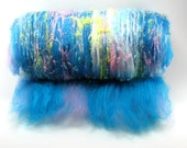 Confetti Bright - 3oz Drum Carded Fiber Batt and Beads