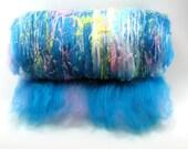 Confetti Bright - 3oz Drum Carded Fiber Batt and Beads