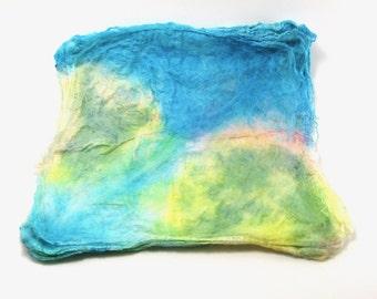 SALE Cartographer - Hand Painted Silk Hankies
