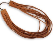 Handamde brown leather necklace