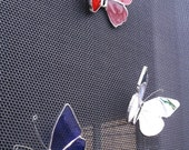 Stained Glass Butterflies...Set of Three Patriotic Butterfly Skreen Sav'rs