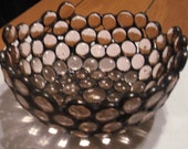 Handmade Peach/Pink Glass Nugget Bowl/Candy Dish...One of a Kind