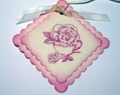 Tea Rose Pink Shabby Chic Gift Tags