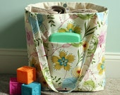 RESERVED FOR CORA - Remaining Balance Large Tote Bag Happy Spring Floral Tote