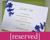 custom orchid party invitations - reserved