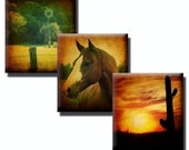 Scenic Country Living collage sheet - 0.83 x 0.75 Scrabble tile size