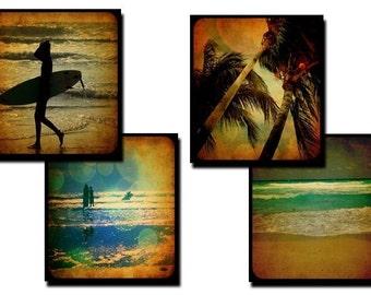 Vintage Summer collage sheet - 0.83 x 0.75 Scrabble tile size