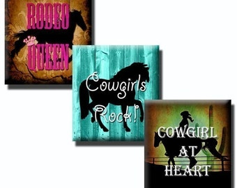 Cowgirl Sayings - .83 x .75 Scrabble tile images - Etsy Download