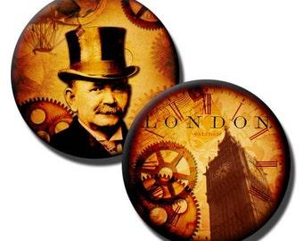 Time Travel Motion - 1.25 inch circles - (2) Digital sheets