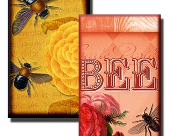 Busy Bee collage sheet  - 1x2 inch - (2) Digital sheets