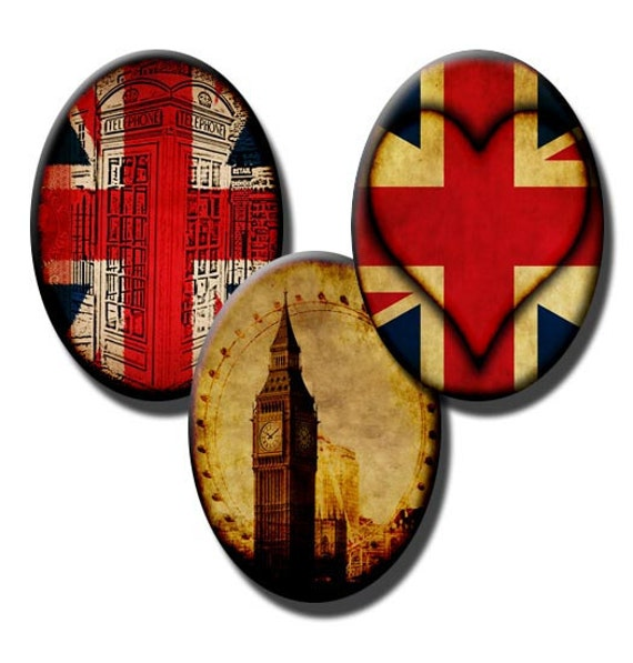 The British Are Coming - 18x25mm and 13x18mm Ovals - (2) digital sheets