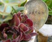Cactus. Vintage Flatware Garden Marker