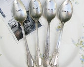 YOU PICK 6 SPOONS. Vintage Flatware Garden Plant Markers