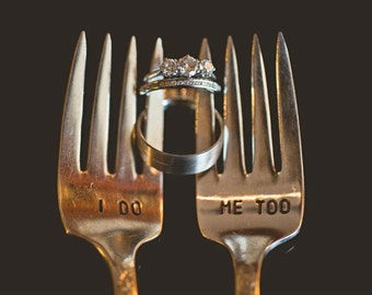 I Do Me Too Forks. Featured In Martha Stewart Weddings May 2011