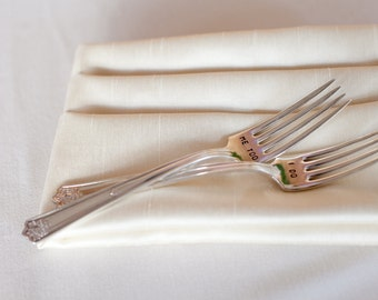 I Do Me Too  Wedding Fork Set. Featured In Martha Stewart Weddings Magazine
