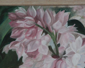 My favorite Lilac an Original 10 X 14 inch Fine Art Oil Painting with frame included