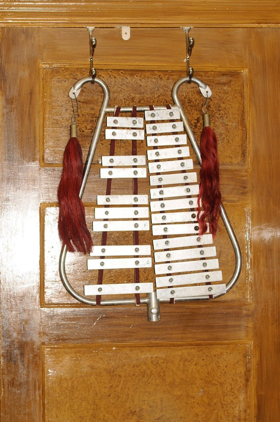vintage glockenspiel from marching band by carohope on etsy. Black Bedroom Furniture Sets. Home Design Ideas
