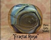 Fractal Rose- Lampwork Glass Focal Bead