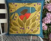 Reversible Bird Pillow - Insert Included